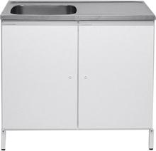 Contura CABL 10 Tvättbänk vit, med 2 förvaringsskåp Vänster