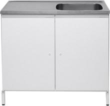 Contura CABL 10 Tvättbänk vit, med 2 förvaringsskåp Höger