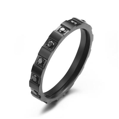 Kranz 1 Reihe Schach Ring Black 50
