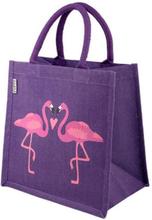 Jute Shopper Taske Flamingos