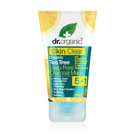 Dr. Organic Skin Clear tea tree deep pore charcoal mask (100 ml)