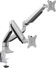 "LogiLink Monitorarm dubbel 13-32"" gaslift - Aluminium"