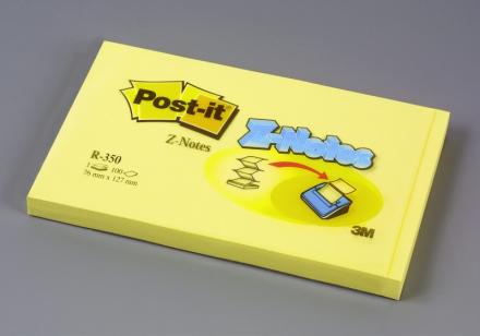Post-it blok r-350 gul z-fold 76x127mm 12blk/pak