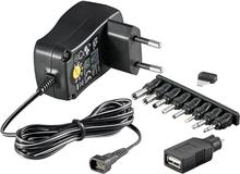 Universaali Virta-adapteri 3-12V - max. 3,6 W ja 0,3 A
