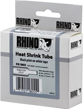 DYMO RhinoPRO merkkausputki 12x1 5 mm valk putki/musta teksti 1 5m