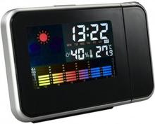 Roterande Projektionsklocka Väderprognos väckarklocka LCD