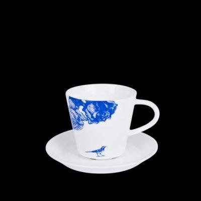 Månses Design Kaffekopp med fat Blåloos