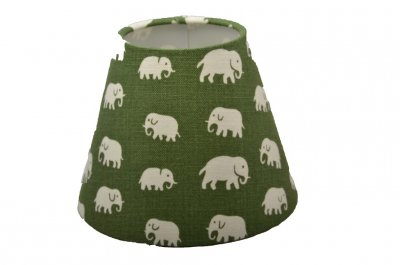 Lampskärm Elefant Grön lin