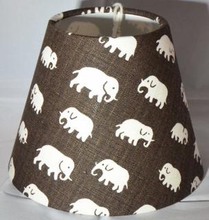 Lampskärm Elefant Brun lin