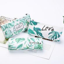 Korean Fresh Kawaii Pencil Case Turtle leaf pencil bag High capacity Pencil pouch School Office Home Storage Supplies Stationery