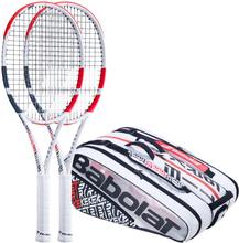 Babolat 2x Pure Strike 100 Plus Tennistasche Griffstärke 1
