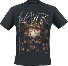 Slayer - Spiky Thorned Skull -T-skjorte - svart
