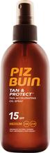Köp Piz Buin Tan & Protect Oil Spray SPF 15, 150ml Piz Buin Solskydd fraktfritt