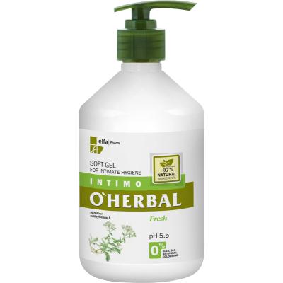 O'Herbal Intimate Hygiene Fresh Soft Gel Yarrow Extract 500 ml