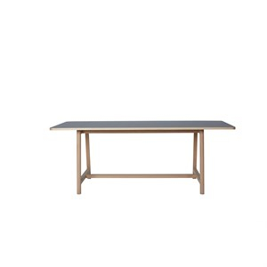 Wrong For HAY bord - Frame udtræksbord ask m. grå linoleum 200 cm