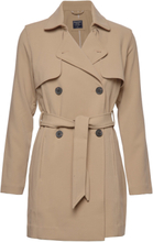 Drapey Trench Trench Coat Kåpe Brun Abercrombie & Fitch