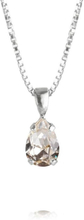 Caroline Svedbom Petite Drop Necklace Rhodium Crystal
