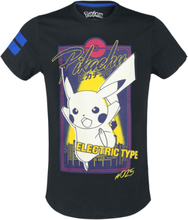 Pokemon - Pikachu - City -T-skjorte - svart