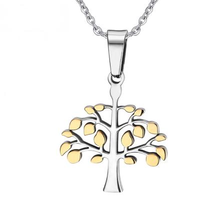 """Halsband """"Livets träd"""" i 18 K Guld- och 925 Sterling Silverplätering"""