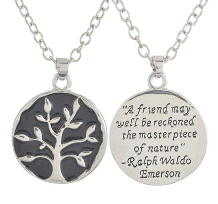 """Halsband """"Lifes tree"""" -Silverfärgad"""