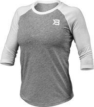 Better Bodies Womens Baseball Tee, grey melange, large T-shirt dam