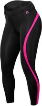 Better Bodies Curve Tights, black/pink, xsmall Träningstights dam