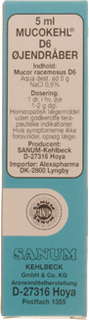 Mucokehl D6 Øjendråber (5 ml)