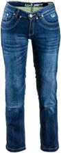W-TEC Womens MC Jeans B-2012, bright blue, 33 MC-tillbehör dam