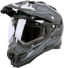 W-TEC Motorcykelhjälm AP-885, carbon black, large (59-60) MC-tillbehör