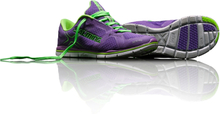 Salming Xplore Women, electric purple/lime green, 36 Skor dam