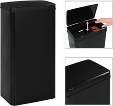 vidaXL Soptunna med automatisk sensor svart stål 80 L
