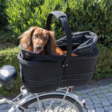 TRIXIE cykelkurv til kæledyr til bagagebærer 29 x 49 x 60 cm sort