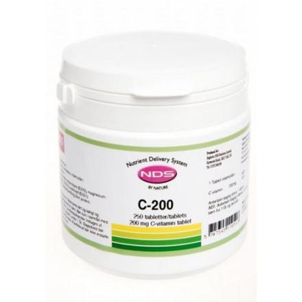 NDS C-200 Vitamin (250 tab)