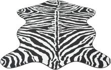 vidaXL Formad matta 150x220 cm zebramönster