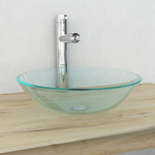 vidaXL Handfat i härdat glas 42 cm transparent