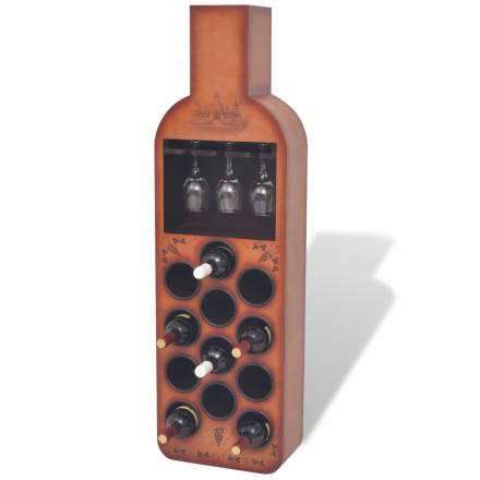 vidaXL Vinställ flaskformat 12 flaskor brun
