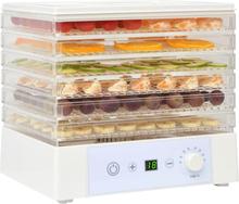 vidaXL fødevaredehydrator med 6 bakker 250 W hvid