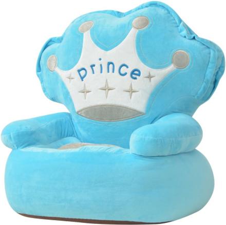 vidaXL Barnstol i plysch prins blå