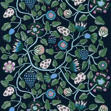 Tiara tyg mörkblå-grön