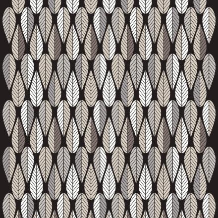 Blader stoff grå-svart-hvit