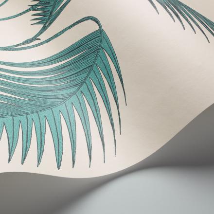 Palm Leaves tapetti valkoinen