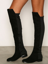 NLY Shoes Mixed Material Thigh Boot