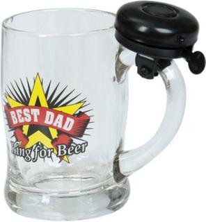 Ölglas med ringklocka - Best dad