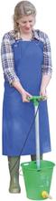 Kerbl Mjölknings- och tvättförkläde PU blå 125x100 cm 15288