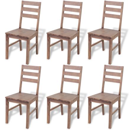 vidaXL Ruokapöydän tuolit 6 kpl Täysi akaasiapuu 42x49x90 cm