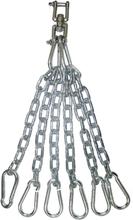 LONSDALE Slitstark kedja för boxsäck rostfritt stål silver