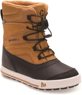 Merrell Snowbank 2.0 Waterproof Kids Barn fôrede støvler Brun US 5/EU 36