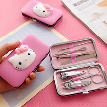 HELLO KITTY children's makeup nail clippers nail scissors set beauty nail set gift girls toys games for girl hello kitty makeup