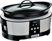Crock-Pot Slowcooker 5,7L Timer Rostfri Blank