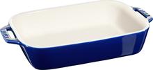 Staub Rektangulær Ovnsform 27 x 20 cm blå